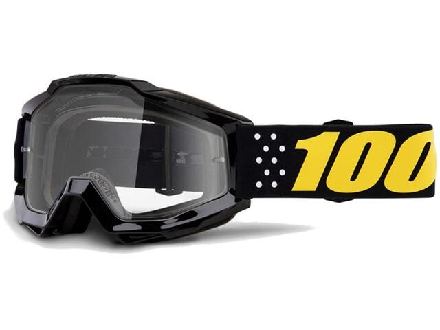 100% Accuri Anti Fog Clear goggles zwart